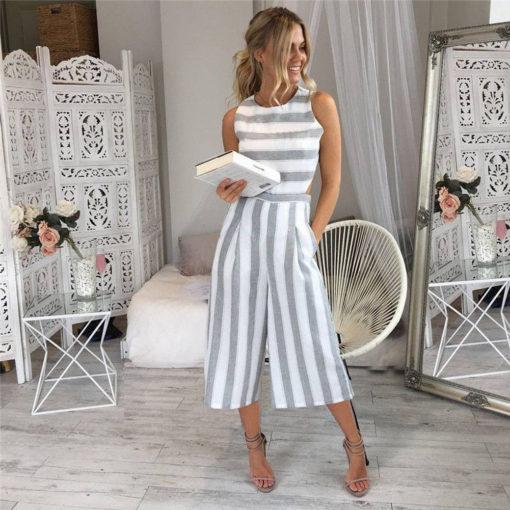 Vertical Striped Jumpsuit